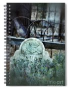 Gravestone With Dove Carved  Spiral Notebook