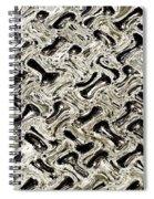 Gray Abstract Swirls Spiral Notebook