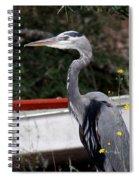 Great Blue Heron - Blue Man Flew Spiral Notebook