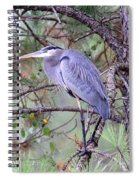 Great Blue Heron - Happy Place Spiral Notebook