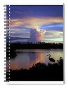 Great Blue Heron Sunset Spiral Notebook