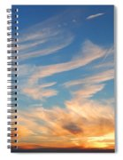Great Canadian Sunset Spiral Notebook