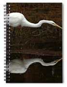 Great Egret Reflection 2 Spiral Notebook