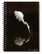 Great Egret Reflection Spiral Notebook