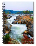 Great Falls On The Potomac River In Virginia Spiral Notebook