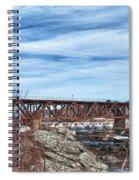 Great Falls Rr Bridge 10477c Spiral Notebook