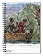 Great Lakes: Canoe, 19th C Spiral Notebook