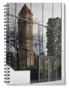 Great Northern Clocktower Reflection - Spokane Washington Spiral Notebook
