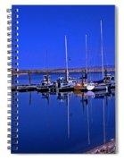 Great Salt Lake Antelope Island Marina Spiral Notebook