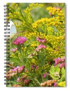 Great Southern White Butterfly Likes The Pink Flowers Spiral Notebook