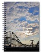 Great White Roller Coaster - Adventure Pier Wildwood Nj At Sunrise Spiral Notebook