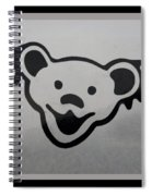 Greatful Dead Dancing Bear In Black And White Spiral Notebook