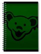 Greatful Dead Dancing Bear In Green Spiral Notebook