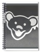 Greatful Dead Dancing Bear In Negative Spiral Notebook