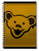 Greatful Dead Dancing Bear In Orange Spiral Notebook