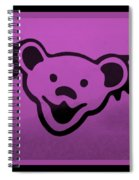 Greatful Dead Dancing Bear In Pink Spiral Notebook