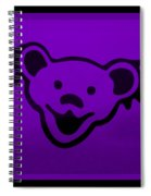 Greatful Dead Dancing Bear In Purple Spiral Notebook