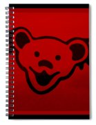 Greatful Dead Dancing Bear In Red Spiral Notebook