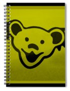 Greatful Dead Dancing Bear In Yellow Spiral Notebook