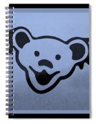 Greatful Dead Dancing Bears In Cyan Spiral Notebook
