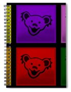 Greatful Dead Dancing Bears In Multi Colors Spiral Notebook