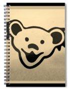 Greatful Dead Dancing Bears In Sepia Spiral Notebook