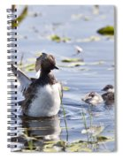 Grebe With Babies Spiral Notebook