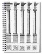 Greek And Roman Columns Spiral Notebook