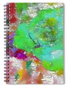Green Abstract Rose Spiral Notebook