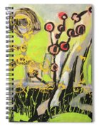 Green And Blue Weed Painting Spiral Notebook