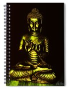 Green And Gold Buddha Spiral Notebook