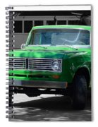 Green And Gray Spiral Notebook