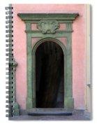 Green And Pink Doorway In Krakow Poland Spiral Notebook