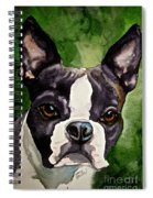 Green Black And White Spiral Notebook