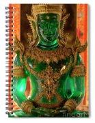 Green Buddha Spiral Notebook