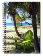 Green Chair On The Beach Spiral Notebook