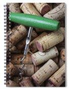 Green Corkscrew Spiral Notebook