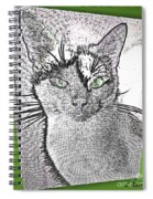Green Eyed Monster Spiral Notebook