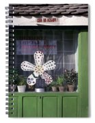 Green Facade With Buttons. Belgrade. Serbia Spiral Notebook