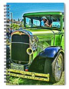 Green Ford Street Rod Hdr Spiral Notebook