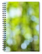 Green Forest And Blue Sky Spiral Notebook