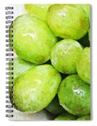Green Grapes On A Plate Spiral Notebook