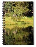 Green In Summit Lake Spiral Notebook