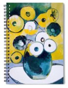Green Jug With Round Flowers Spiral Notebook