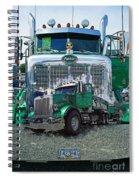 Green Peterbilt Dbl. Exposure Spiral Notebook