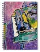 Green Piano Side View Spiral Notebook