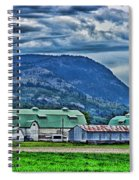 Green Roofed Barn-hdr Spiral Notebook