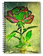 Green Rose Spiral Notebook