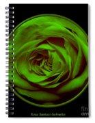 Green Rose On Black Spiral Notebook