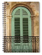 Green Shutters And Balcony In Verona Spiral Notebook